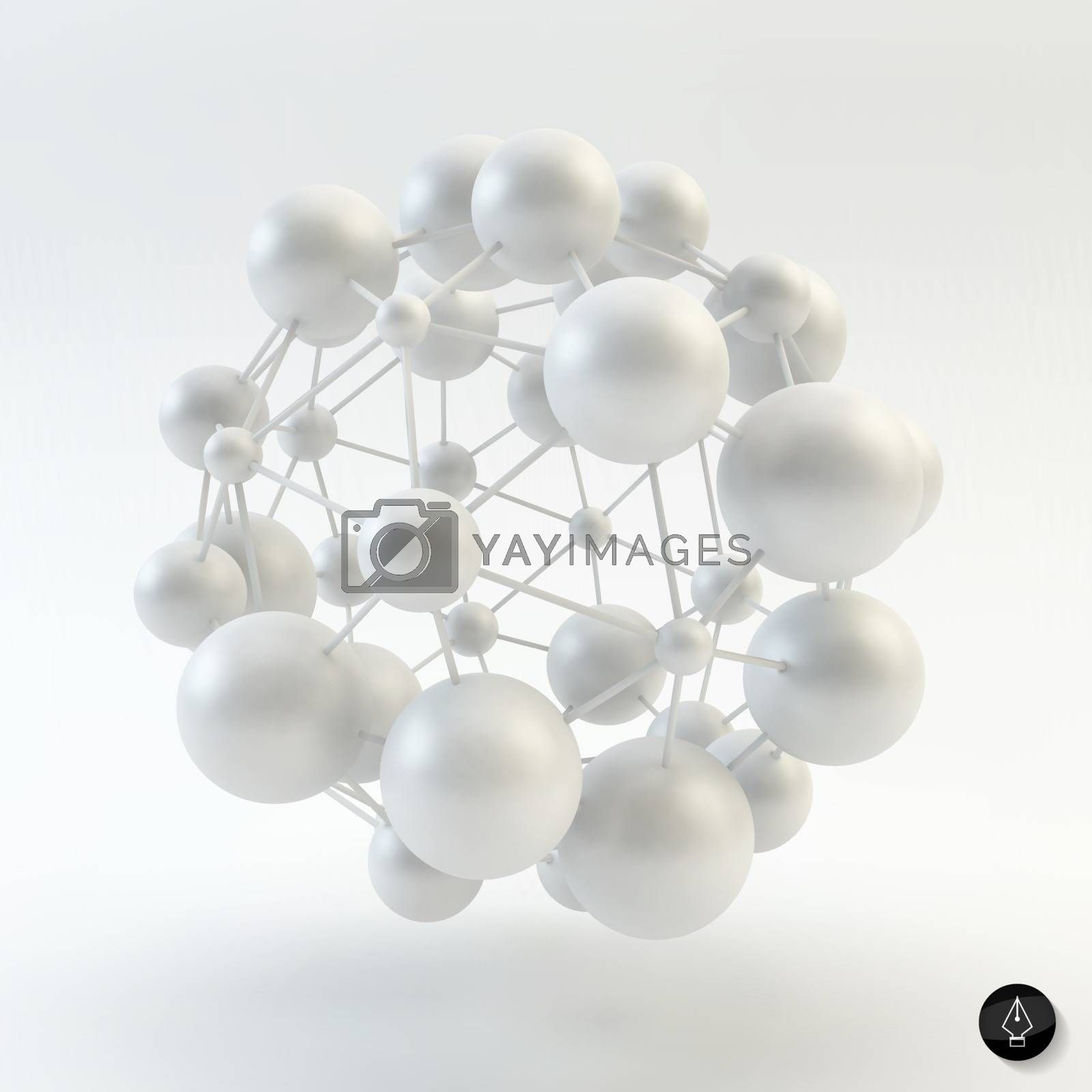 3D Molecule structure background. Graphic design.  by login