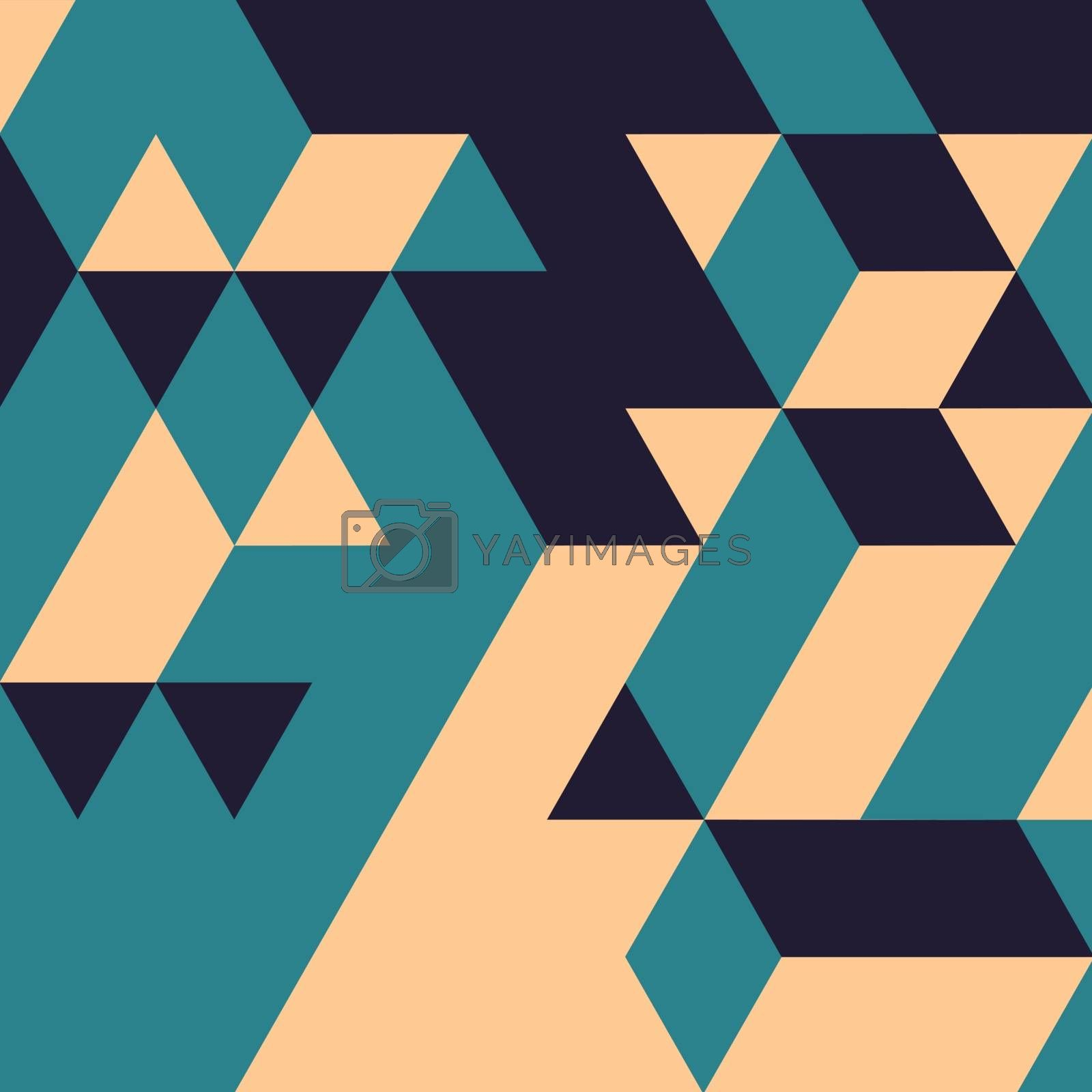 Abstract geometrical 3d background.  by login