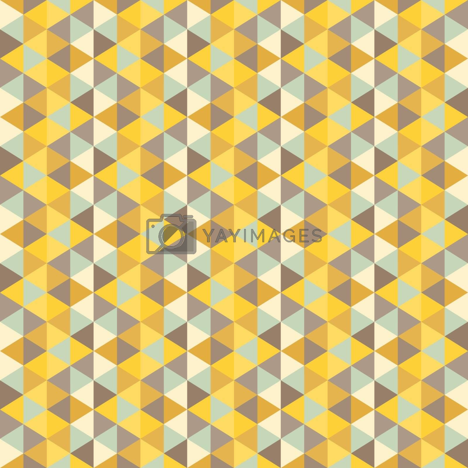 Geometric triangles background. Mosaic.  by login