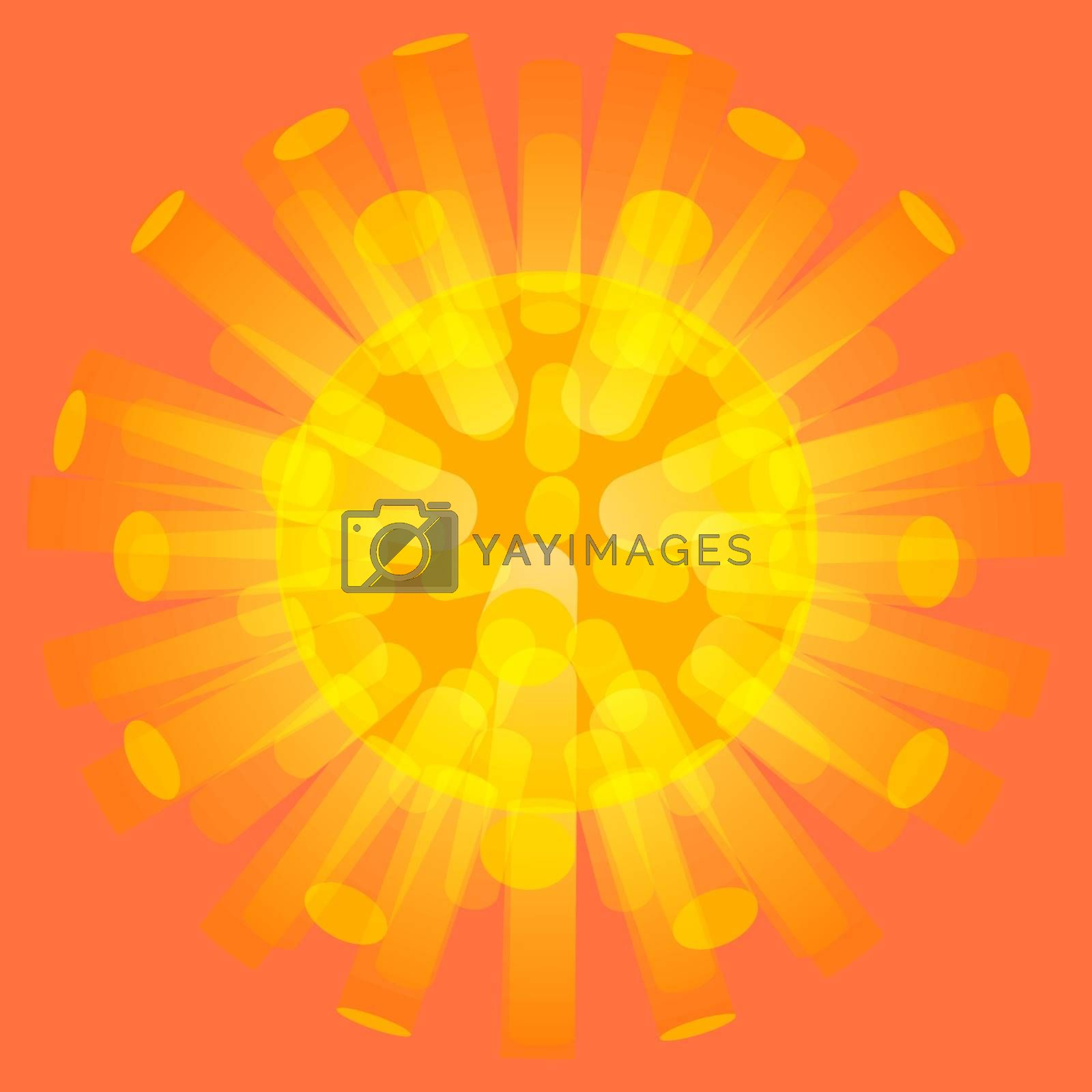 3d background. Molecular structure. Graphic design. Vector Illustration. Can be used  for the poster, card, flyer or banner.