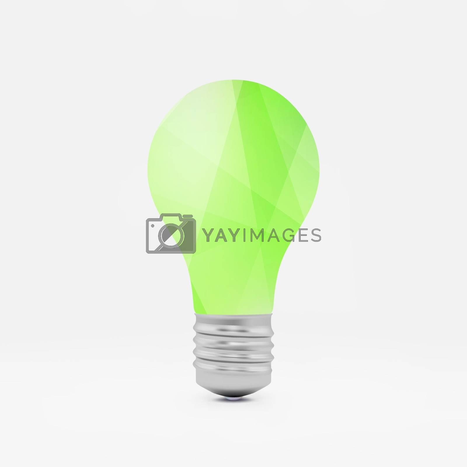 Lightbulb idea symbol. 3d vector illustration.  by login