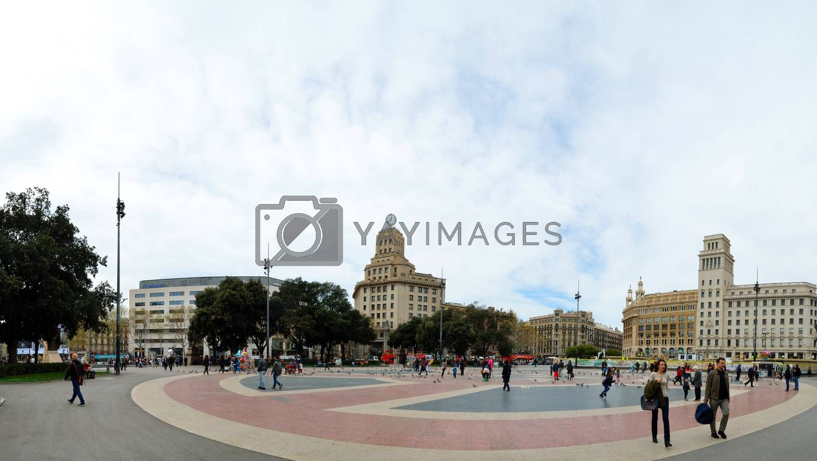 great place in the city of Barcelona Panoramic view