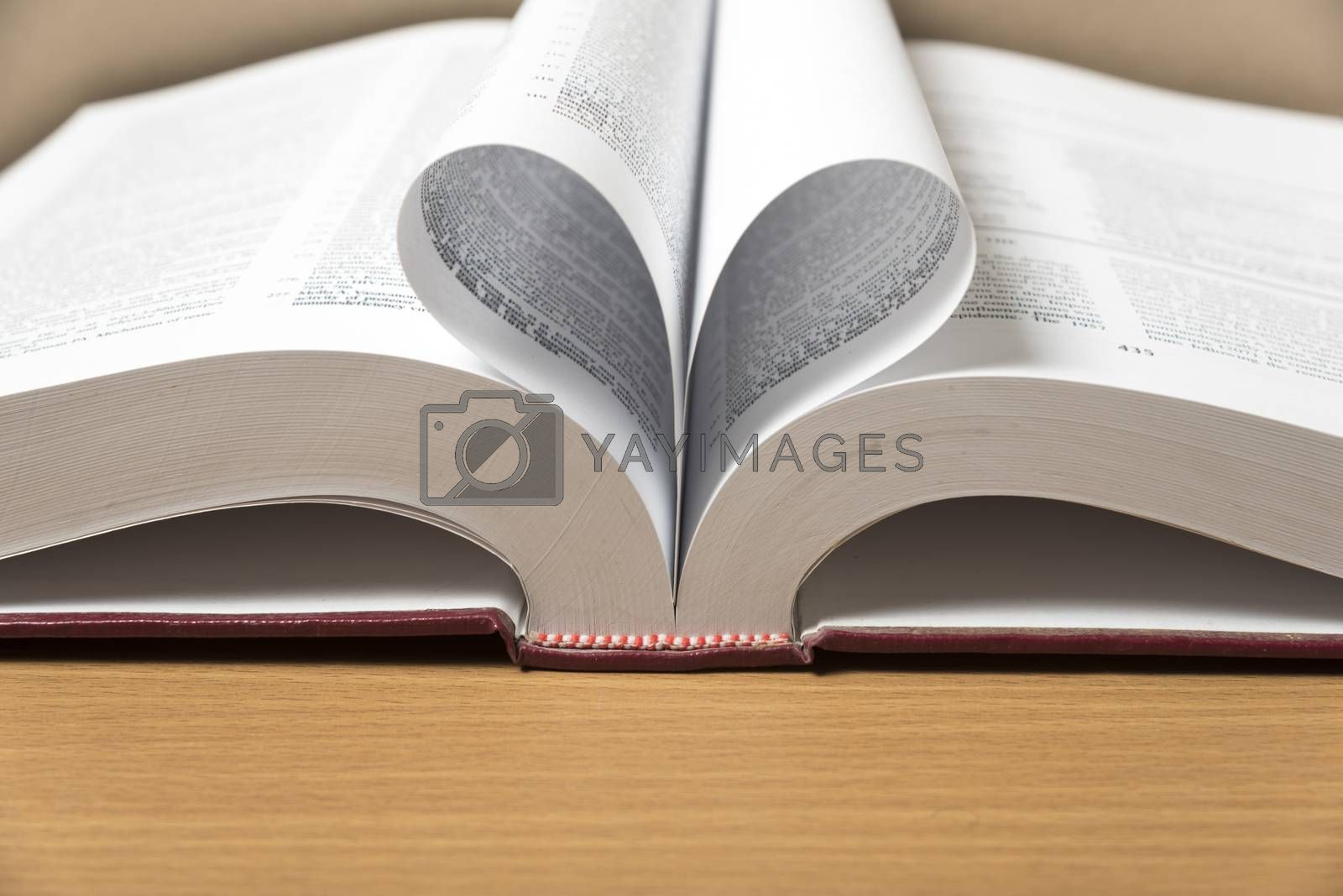 Royalty free image of book shape heart by ammza12