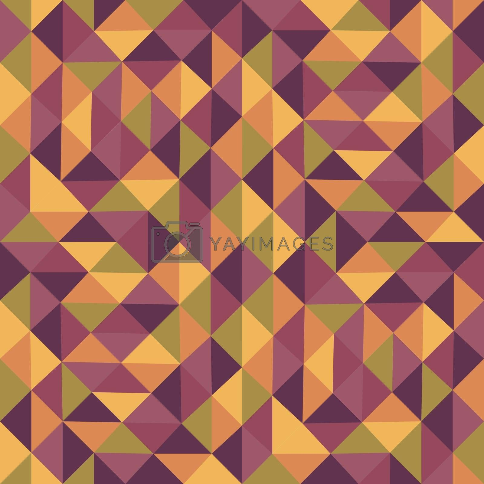 Geometric triangles background. Mosaic. Abstract vector illustration. Can be used for wallpaper, web page background, web banners.