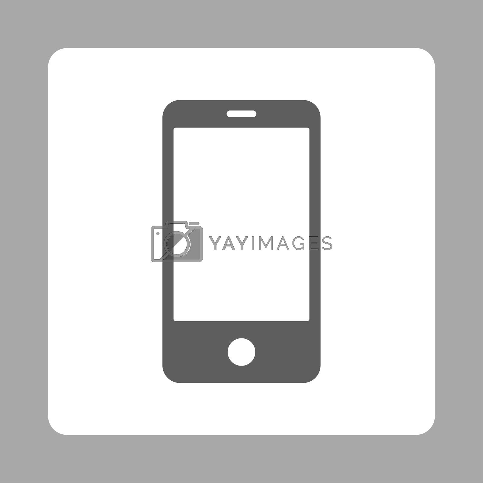Royalty free image of Smartphone flat dark gray and white colors rounded button by ahasoft