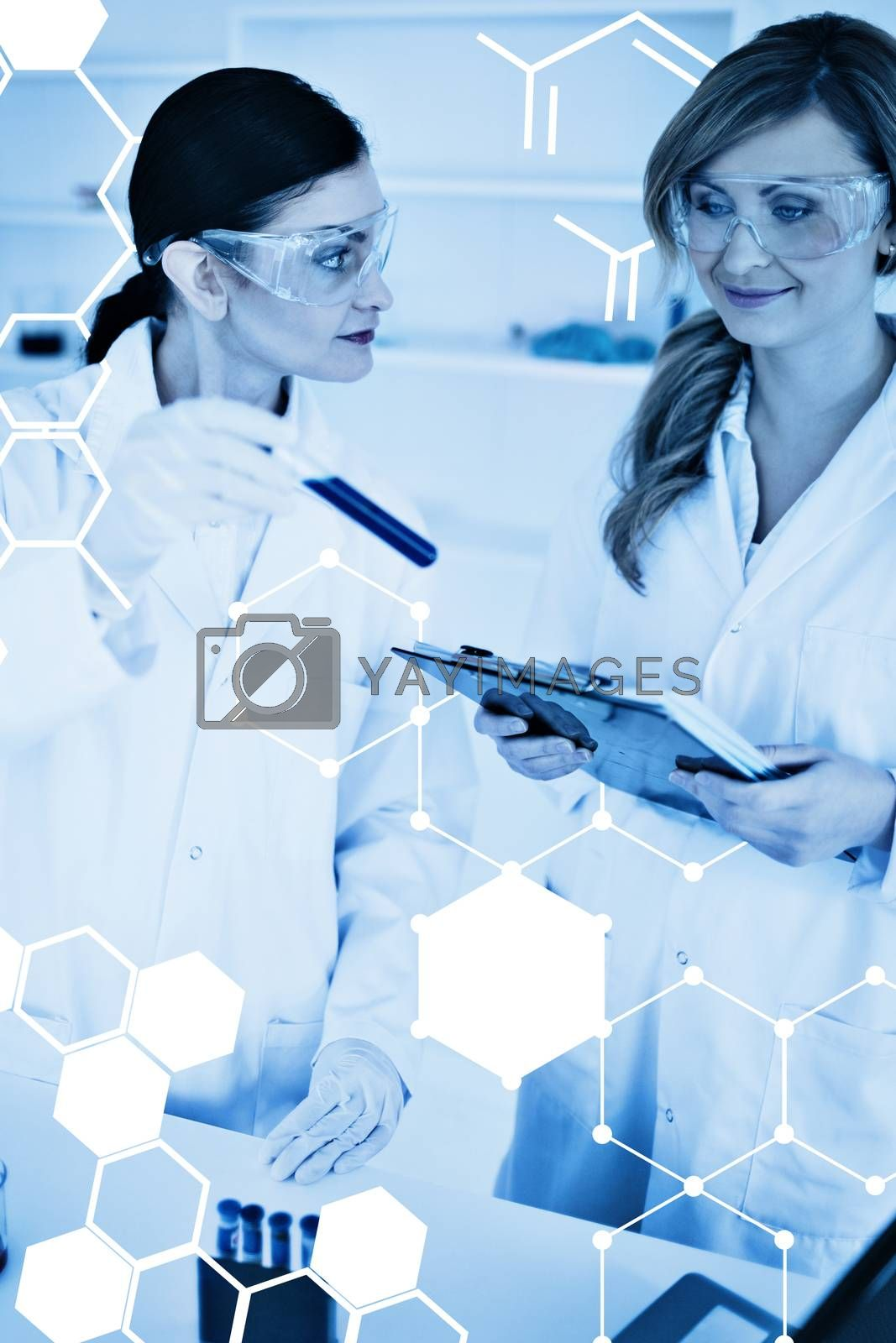 Royalty free image of Composite image of science graphic by Wavebreakmedia
