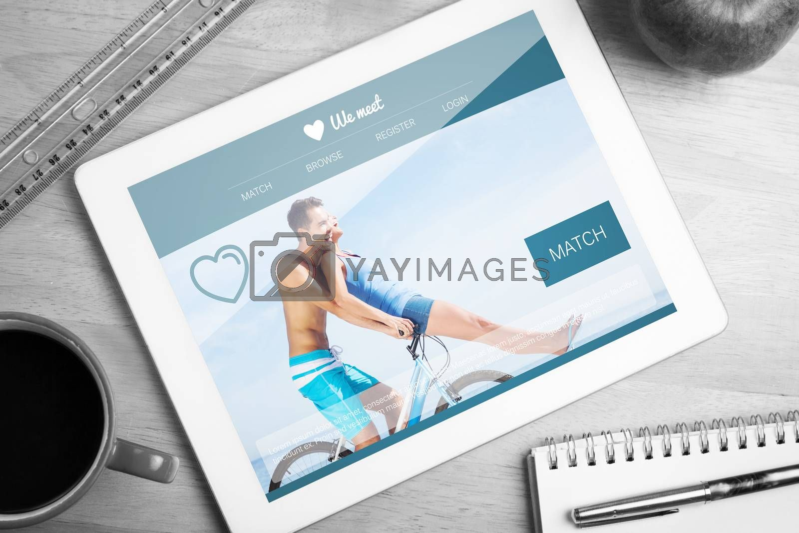 Royalty free image of Composite image of dating website by Wavebreakmedia