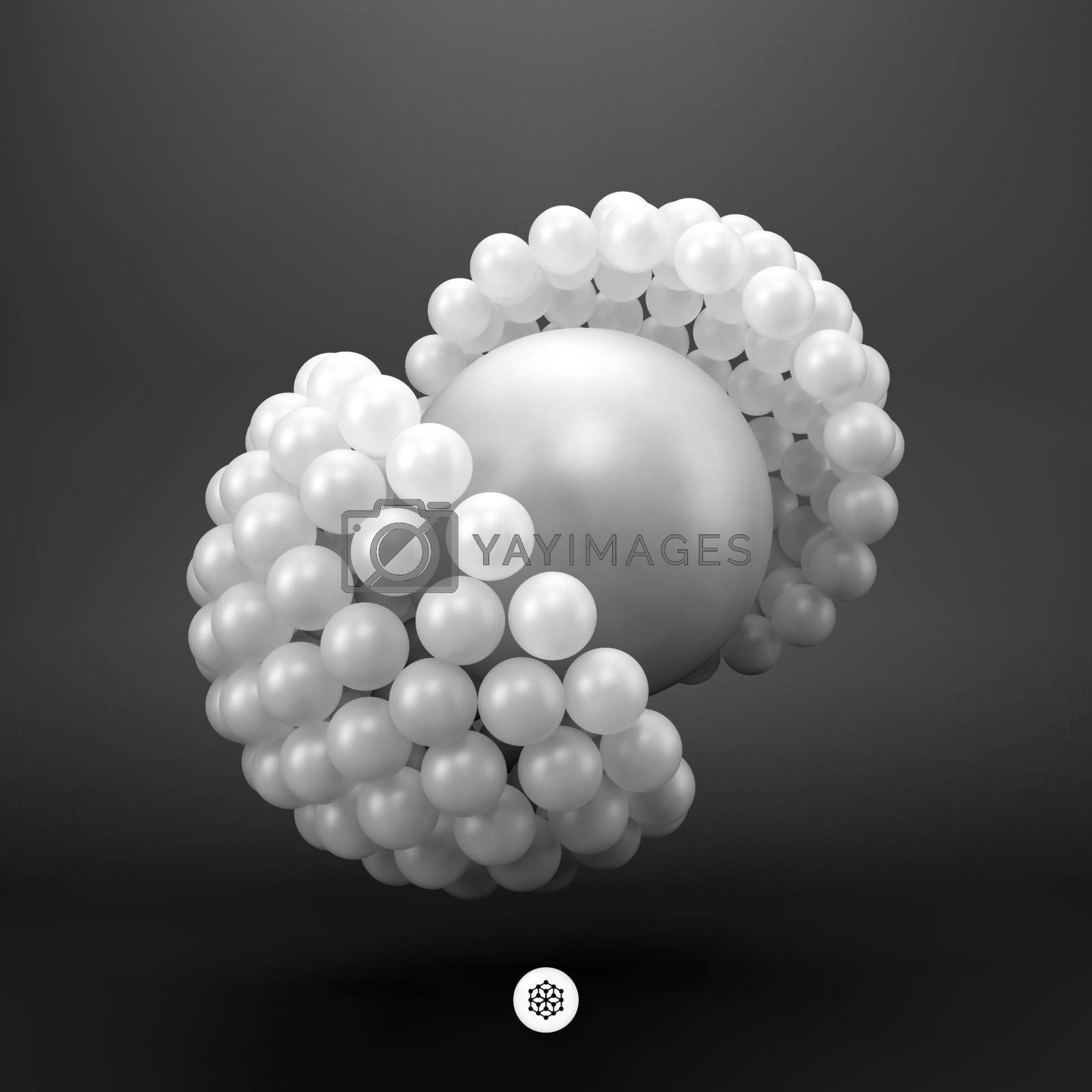 3d vector illustration. Concept for science, social media, technology, network and web design.