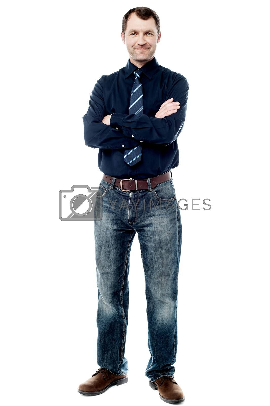 Full length image of confident business executive