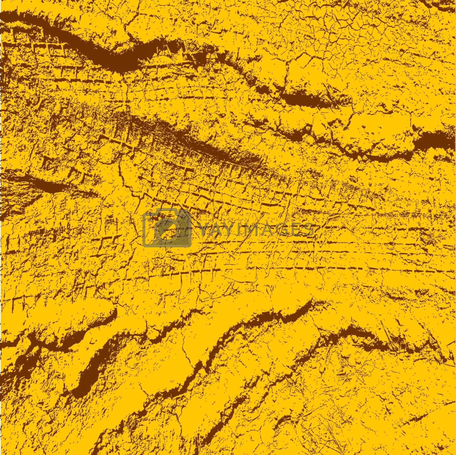 Background with traces of tires. Vector illustration.