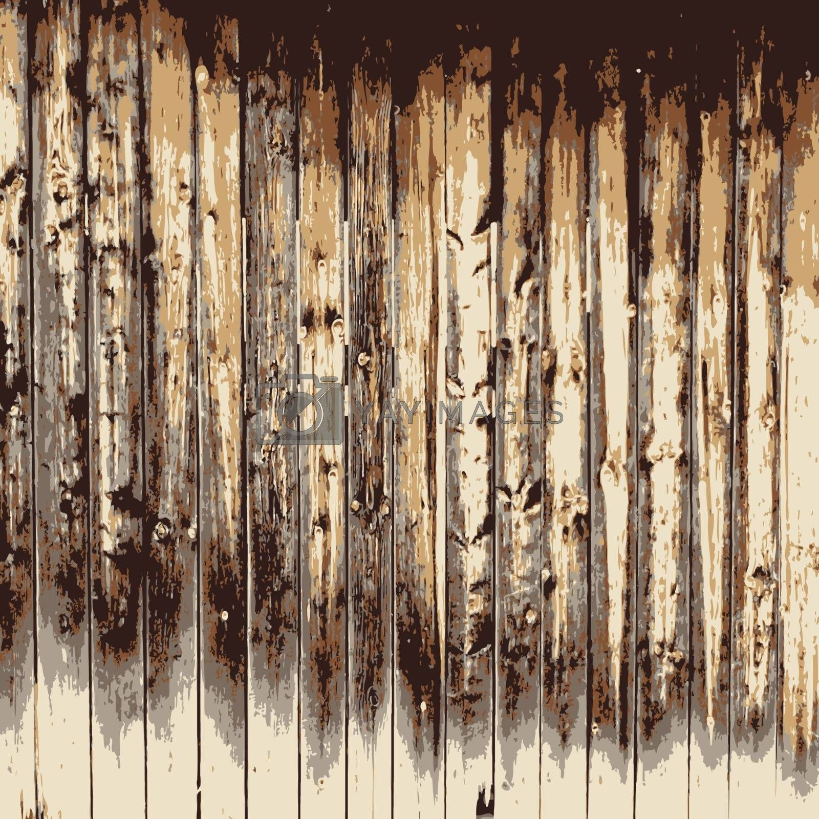 Wooden texture background, Realistic plank. Vector illustration. by aarrows