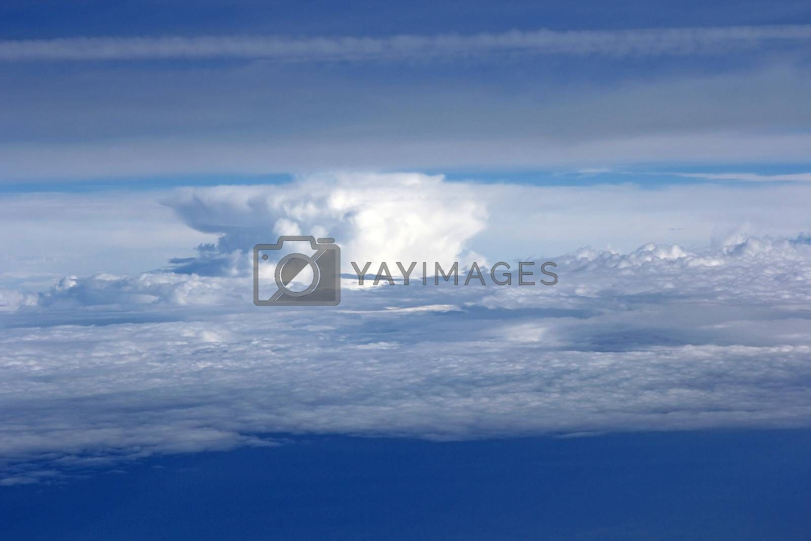 Blue sky background with the white clouds.