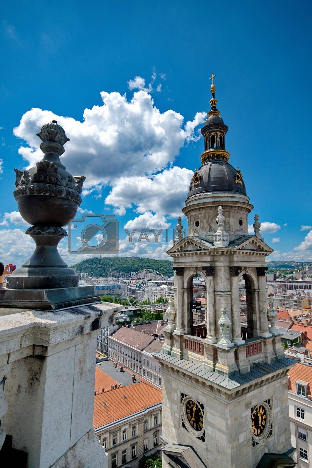View from St. Stephan basilica, Budapest Hungary