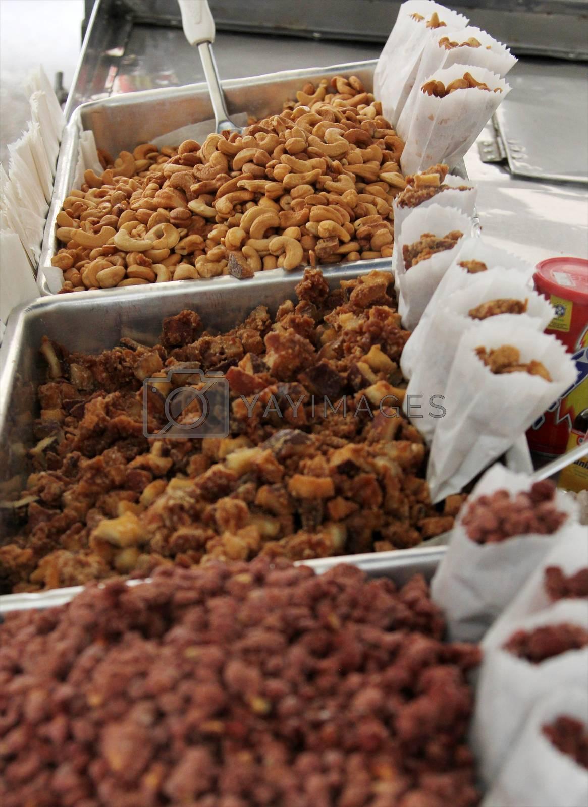 Brazilian caju cashew in the Street Market