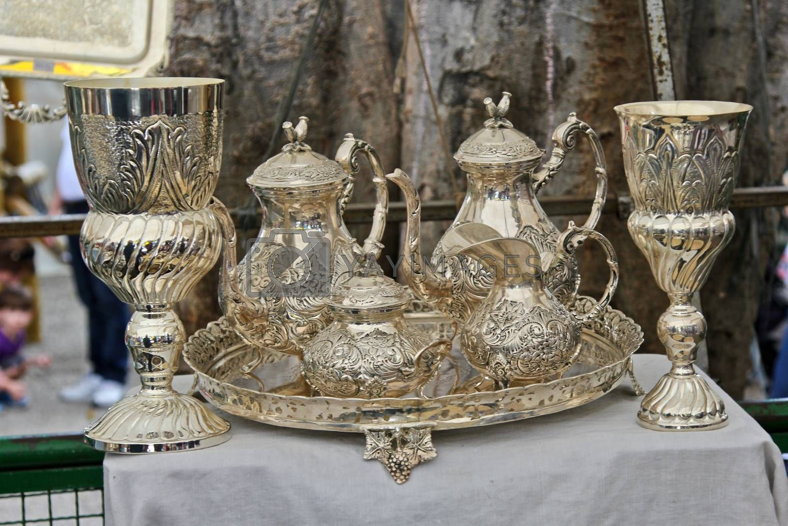 Sao Paulo, Brazil, July 18 2015: Detail of the traditional antique objects market that has been held all Saturdays in Benedito Calixto square in Sao Paulo Brazil.