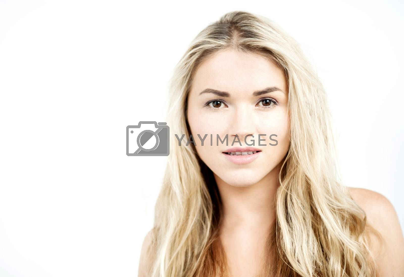 Closeup of topless woman.  by stockyimages