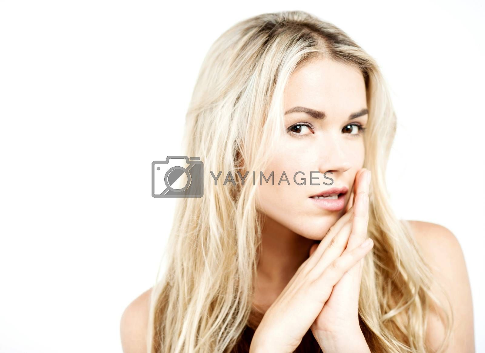 Sensual pose of pretty young woman