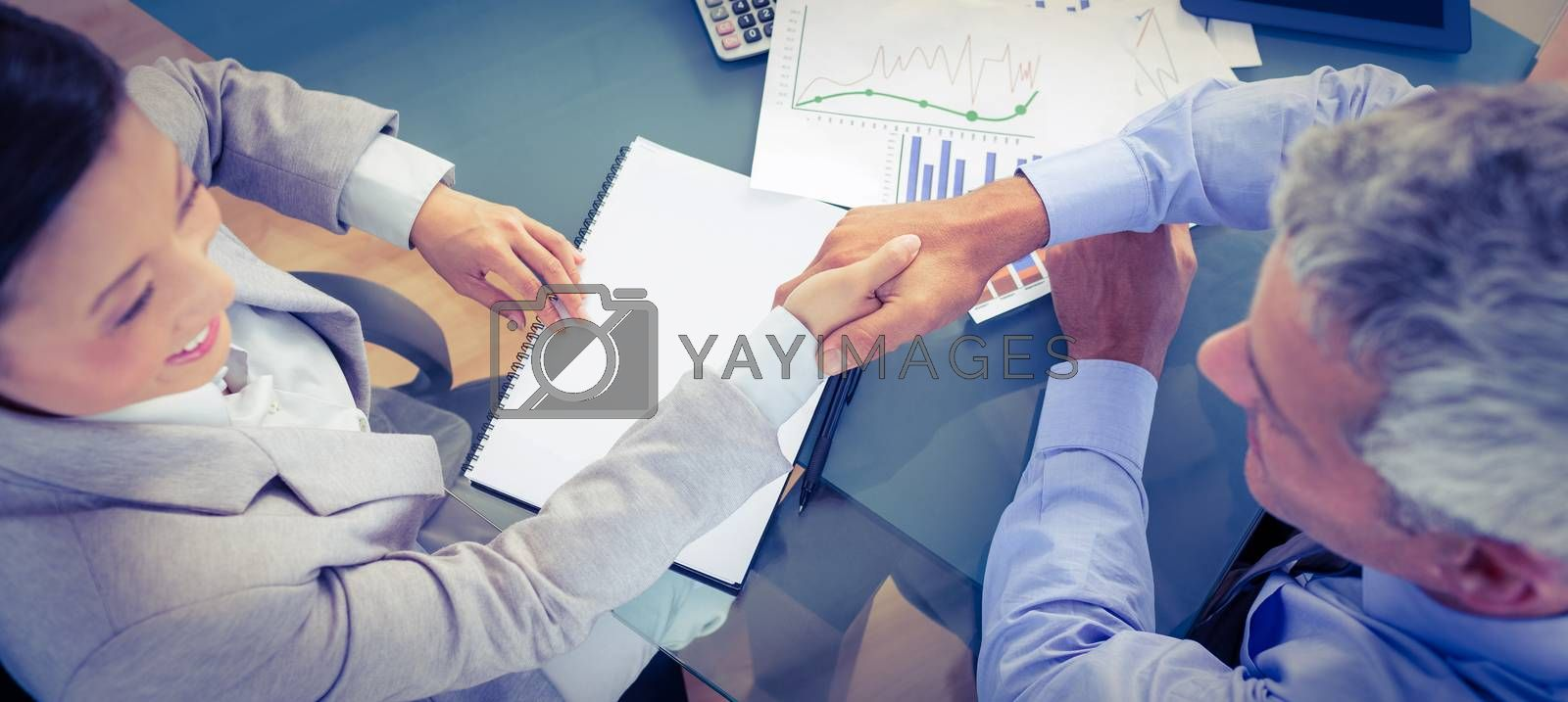 Royalty free image of Business people shaking hands  by Wavebreakmedia