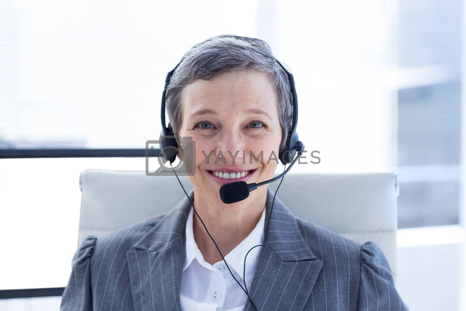 Royalty free image of A portrait of smiling businesswoman  by Wavebreakmedia