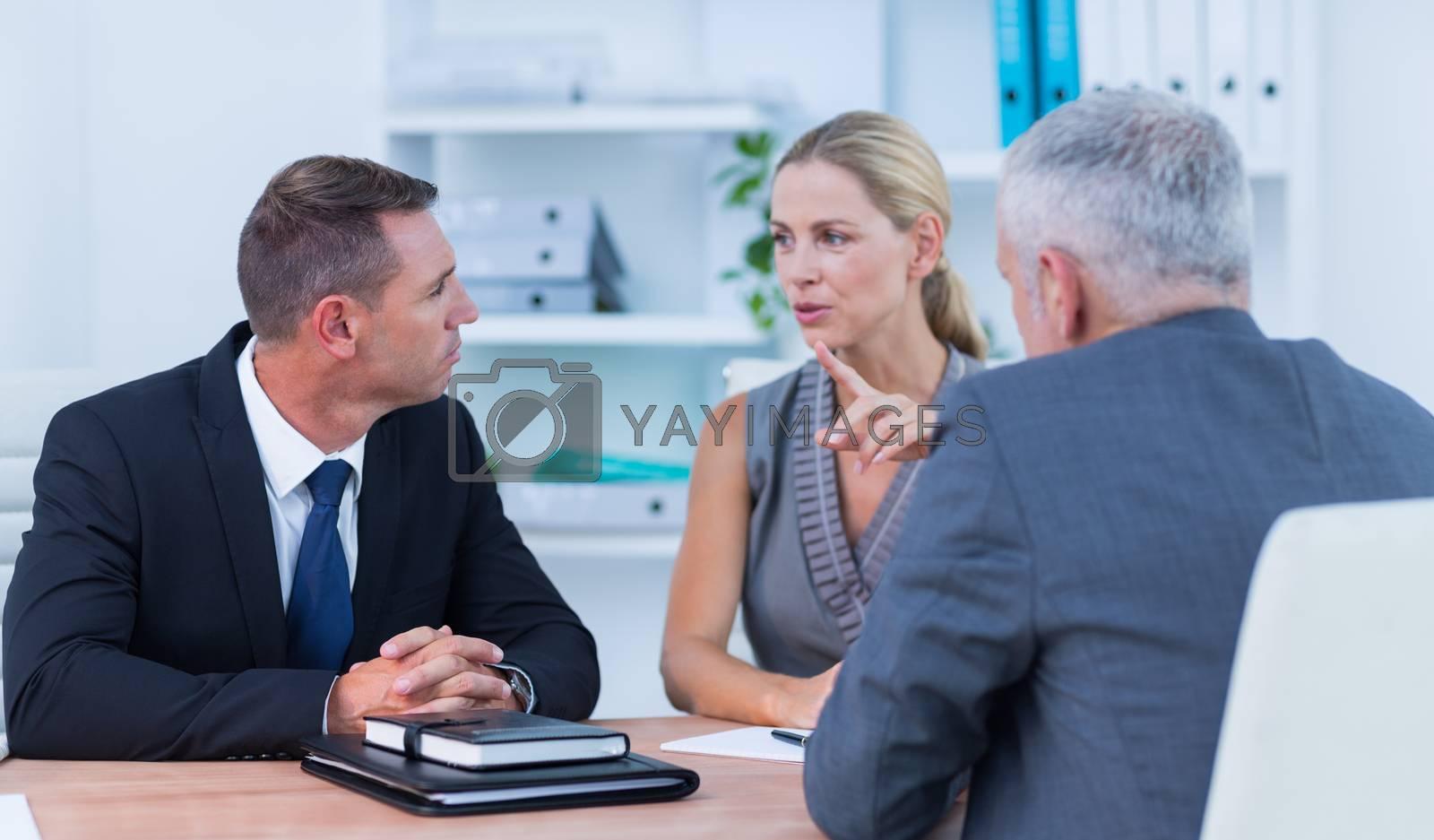 Royalty free image of Business people speaking at meeting by Wavebreakmedia