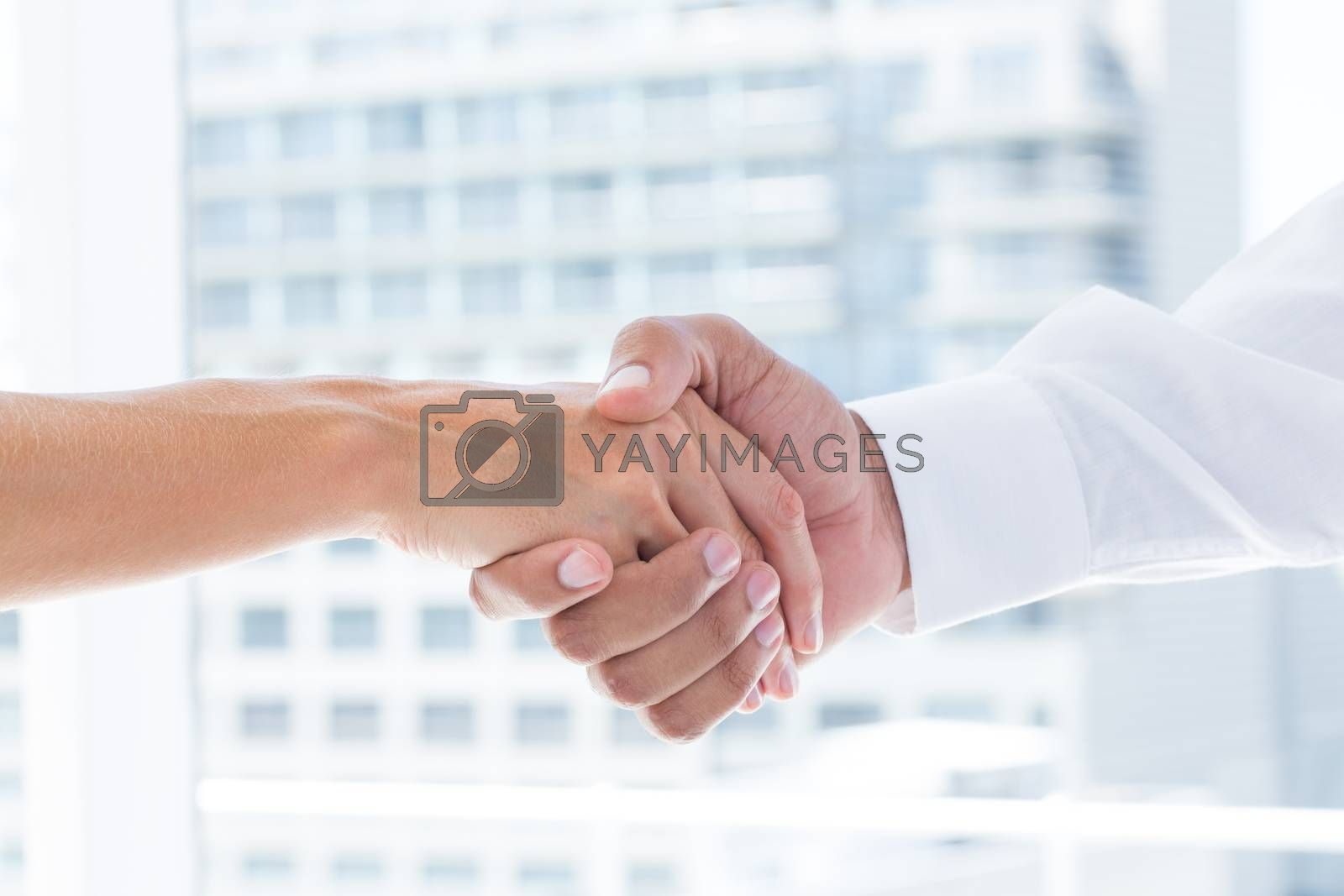 Royalty free image of Close up view of two business people shaking hands by Wavebreakmedia