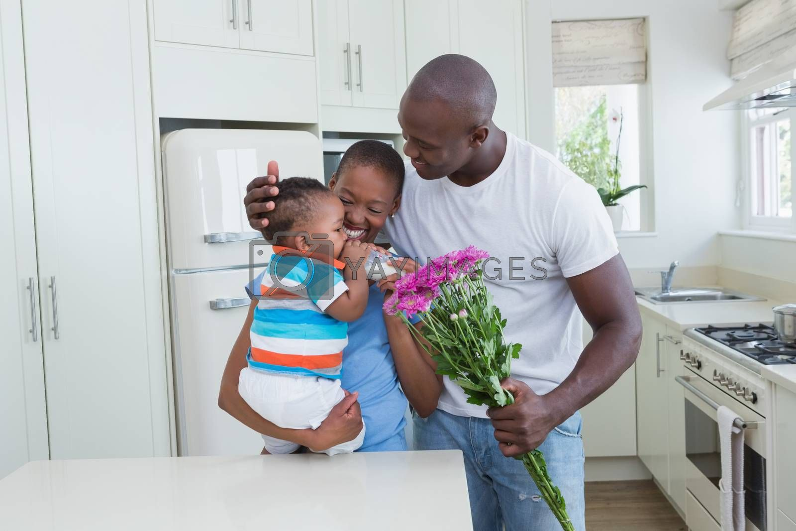 Royalty free image of Happy couple with his babyboy  by Wavebreakmedia