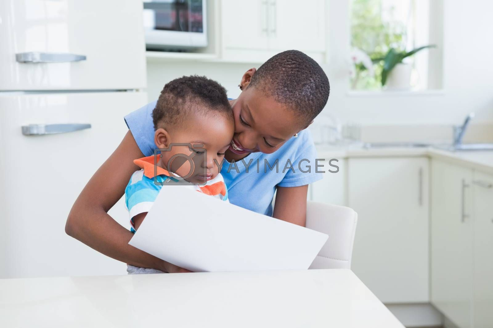 Royalty free image of Happy smiling woman with his babyboy by Wavebreakmedia