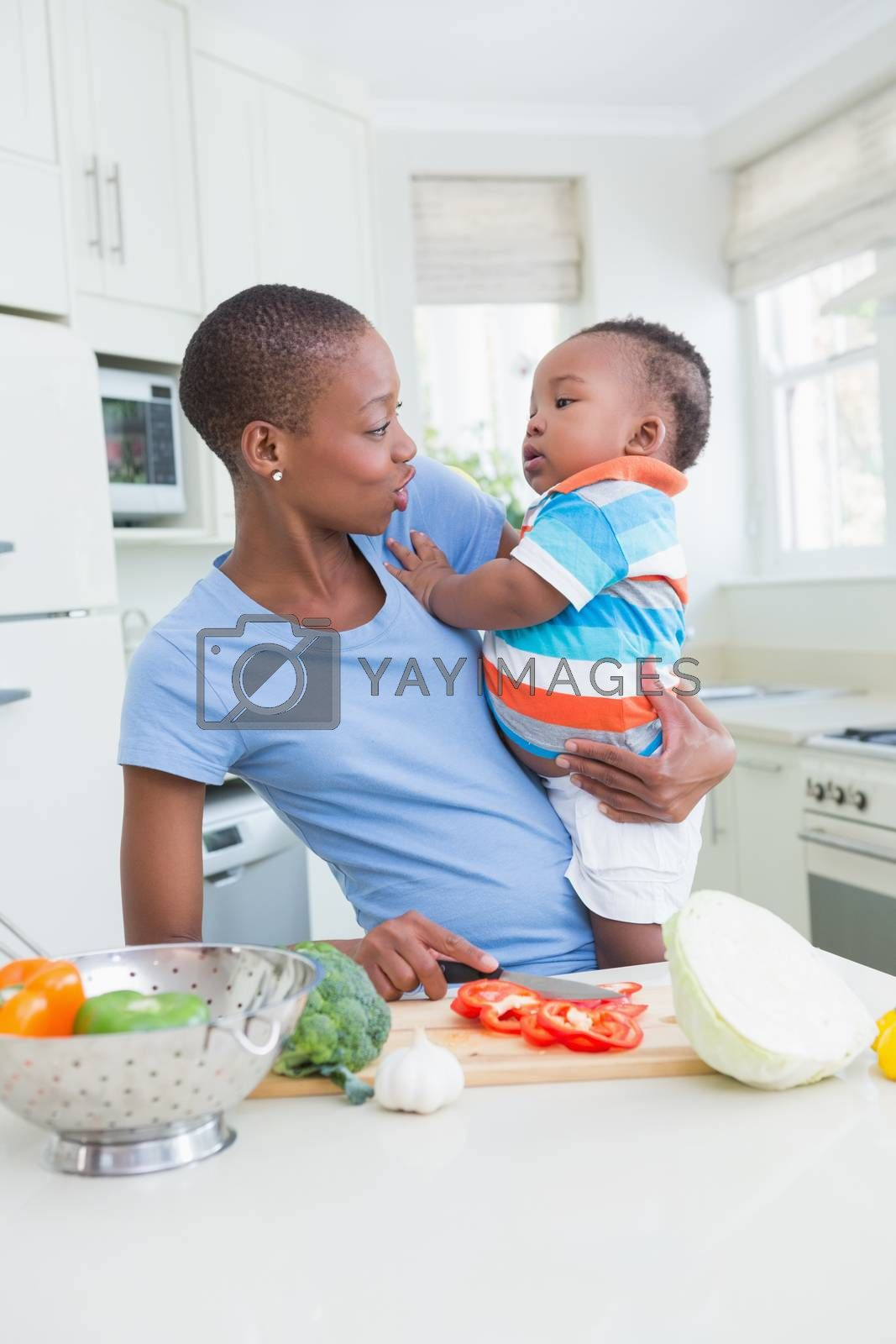 Royalty free image of Happy mother wih his babyboy  by Wavebreakmedia