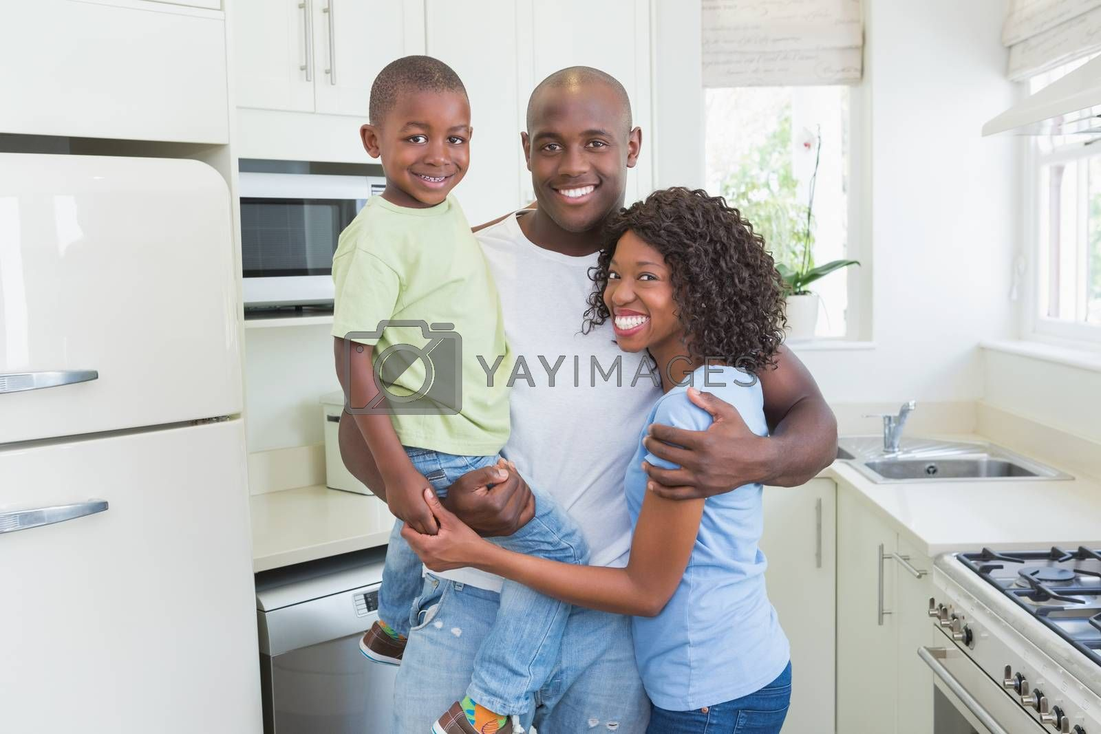 Royalty free image of Portrait of a happy smiling family  by Wavebreakmedia