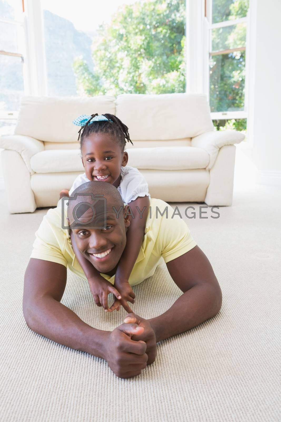 Royalty free image of Happy smiling father with her daughter by Wavebreakmedia