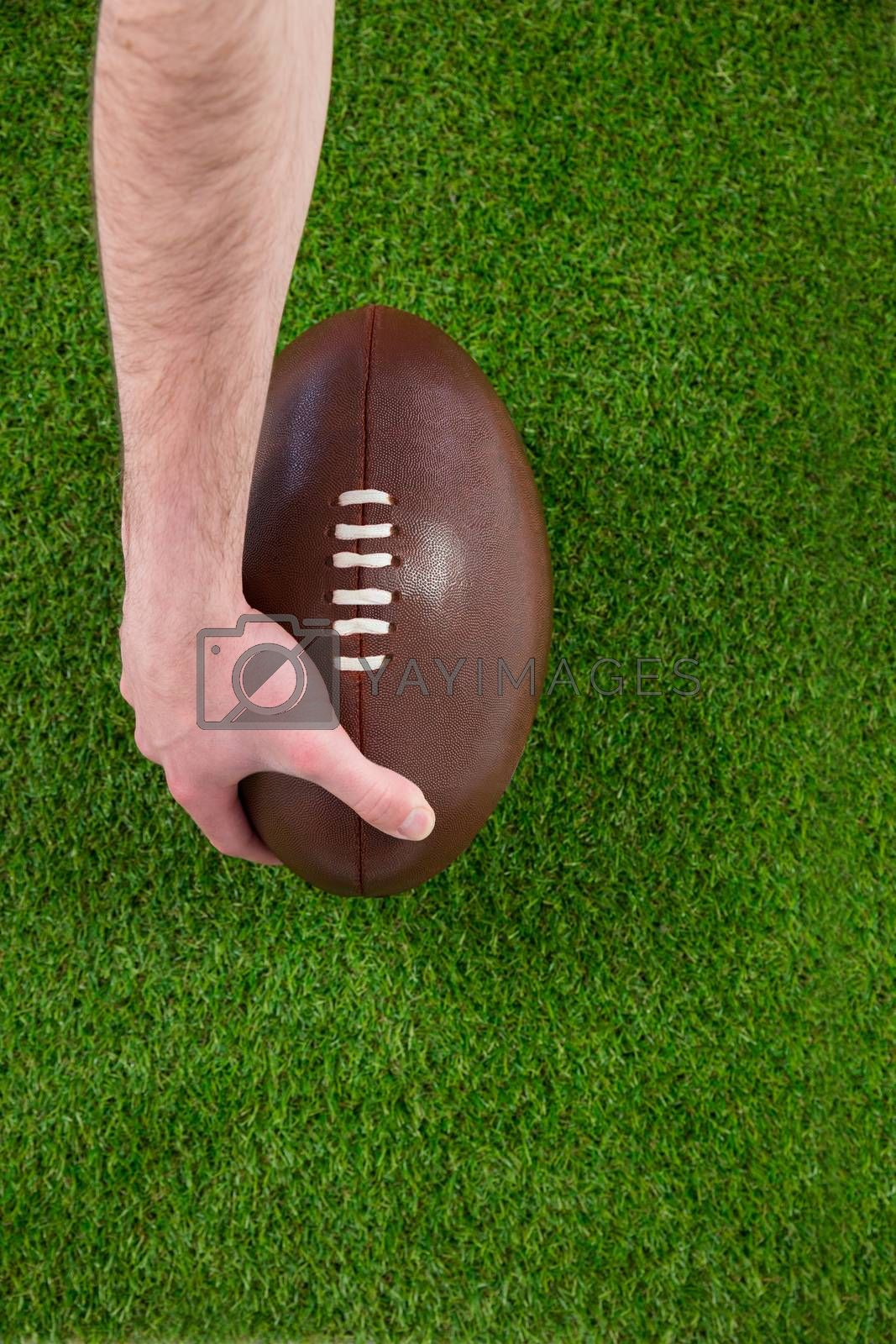 Royalty free image of A rugby player doing a touchdown by Wavebreakmedia