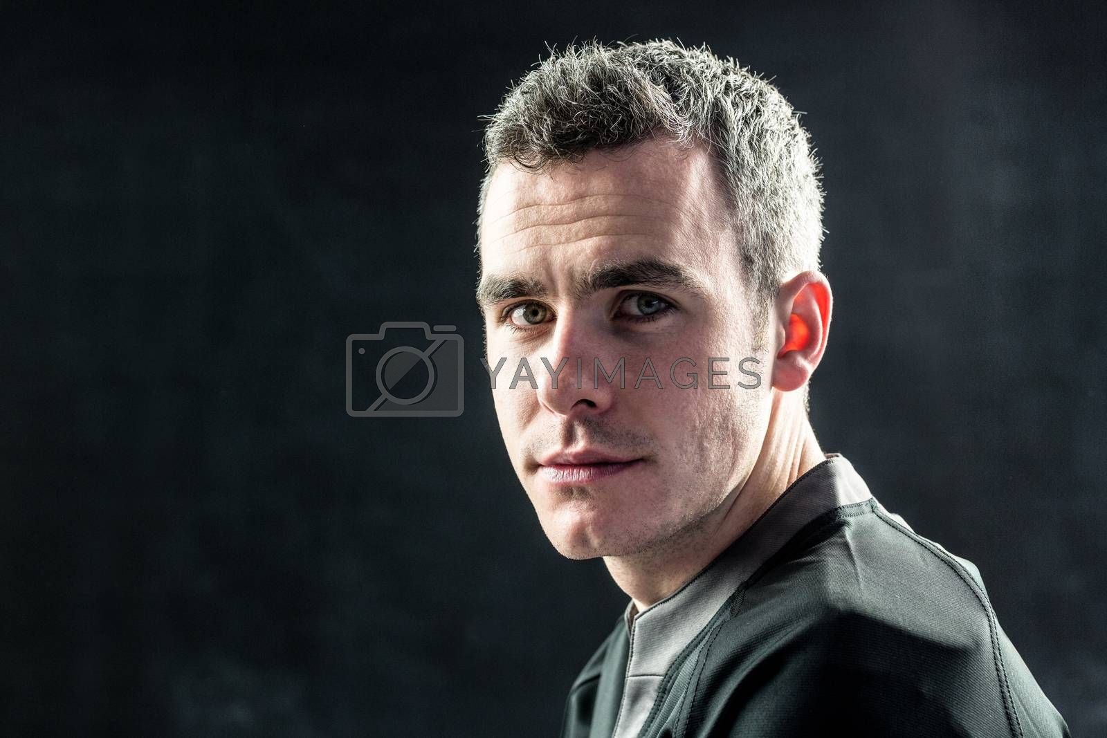 Royalty free image of A rugby player looking at the camera by Wavebreakmedia