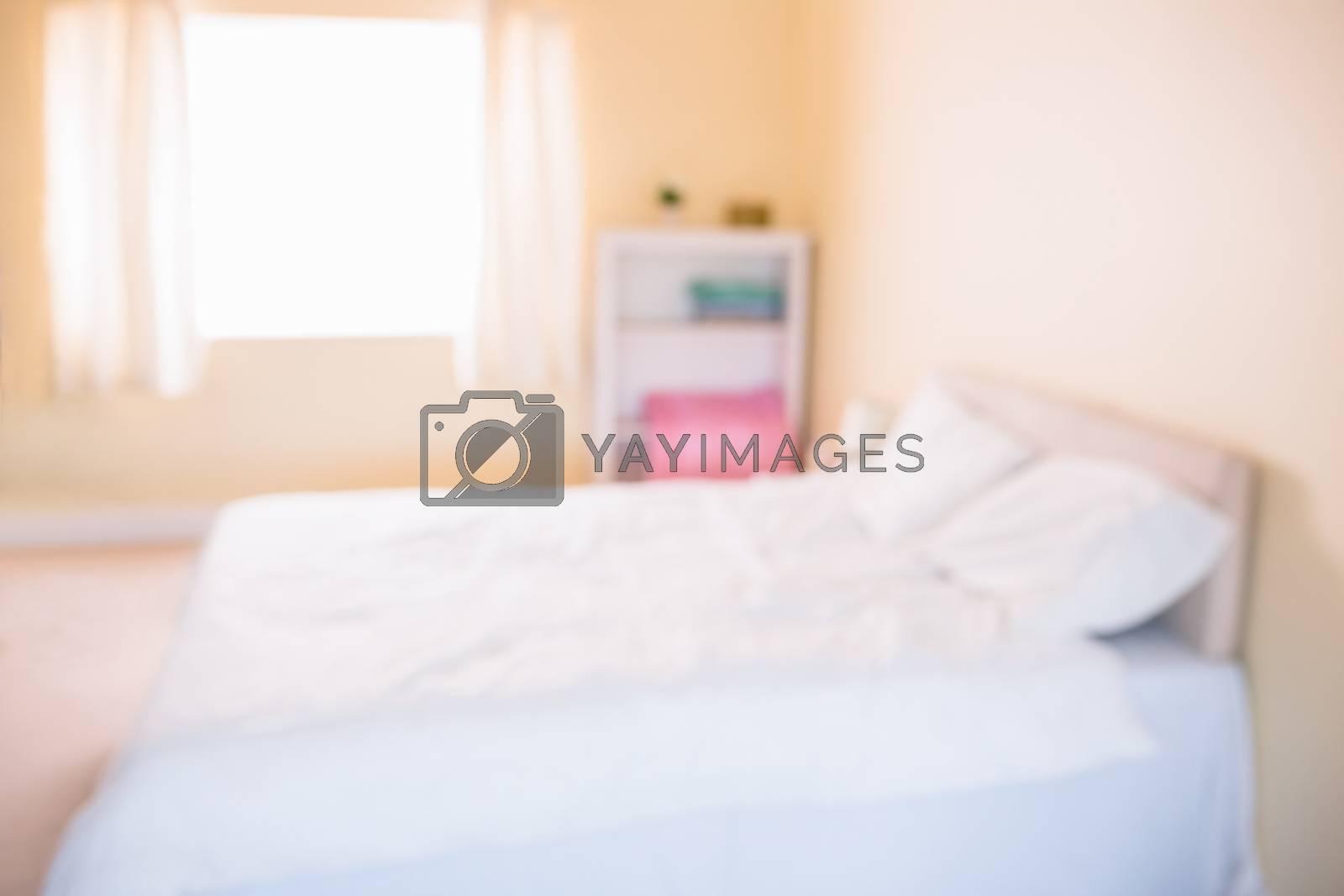 Royalty free image of Fuzzy image of pregnancy bedroom  by Wavebreakmedia