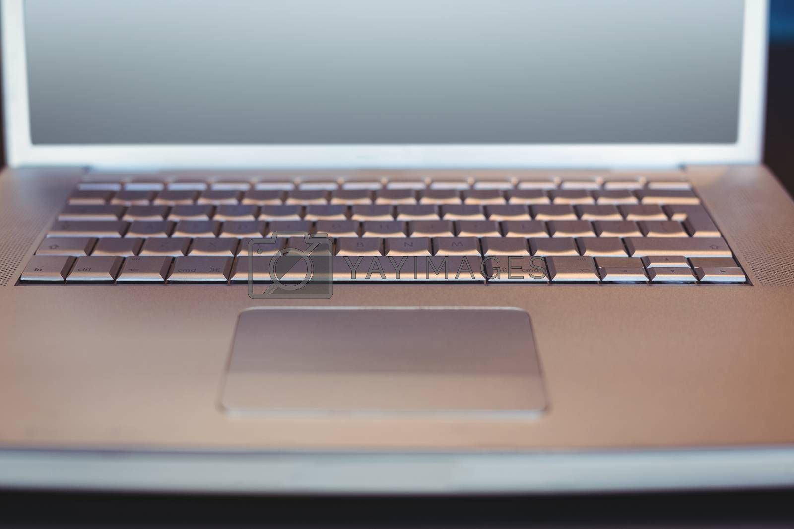 Royalty free image of close up view of a laptop by Wavebreakmedia