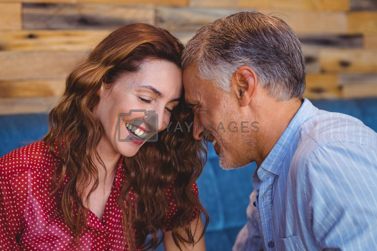 Royalty free image of Close up of a couple flirting by Wavebreakmedia