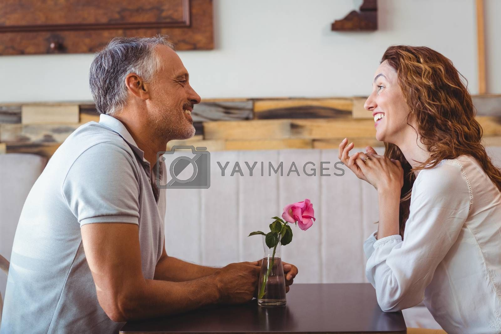 Royalty free image of Cute couple on a date by Wavebreakmedia