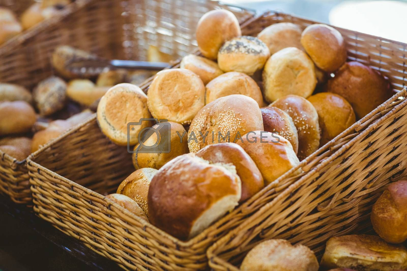 Royalty free image of Basket filling with delicious bread by Wavebreakmedia