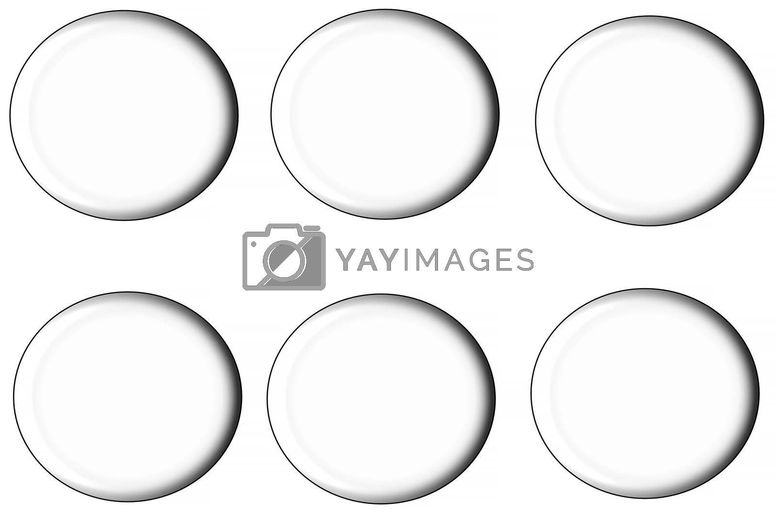 Royalty free image of set of round buttons, by JFsPic