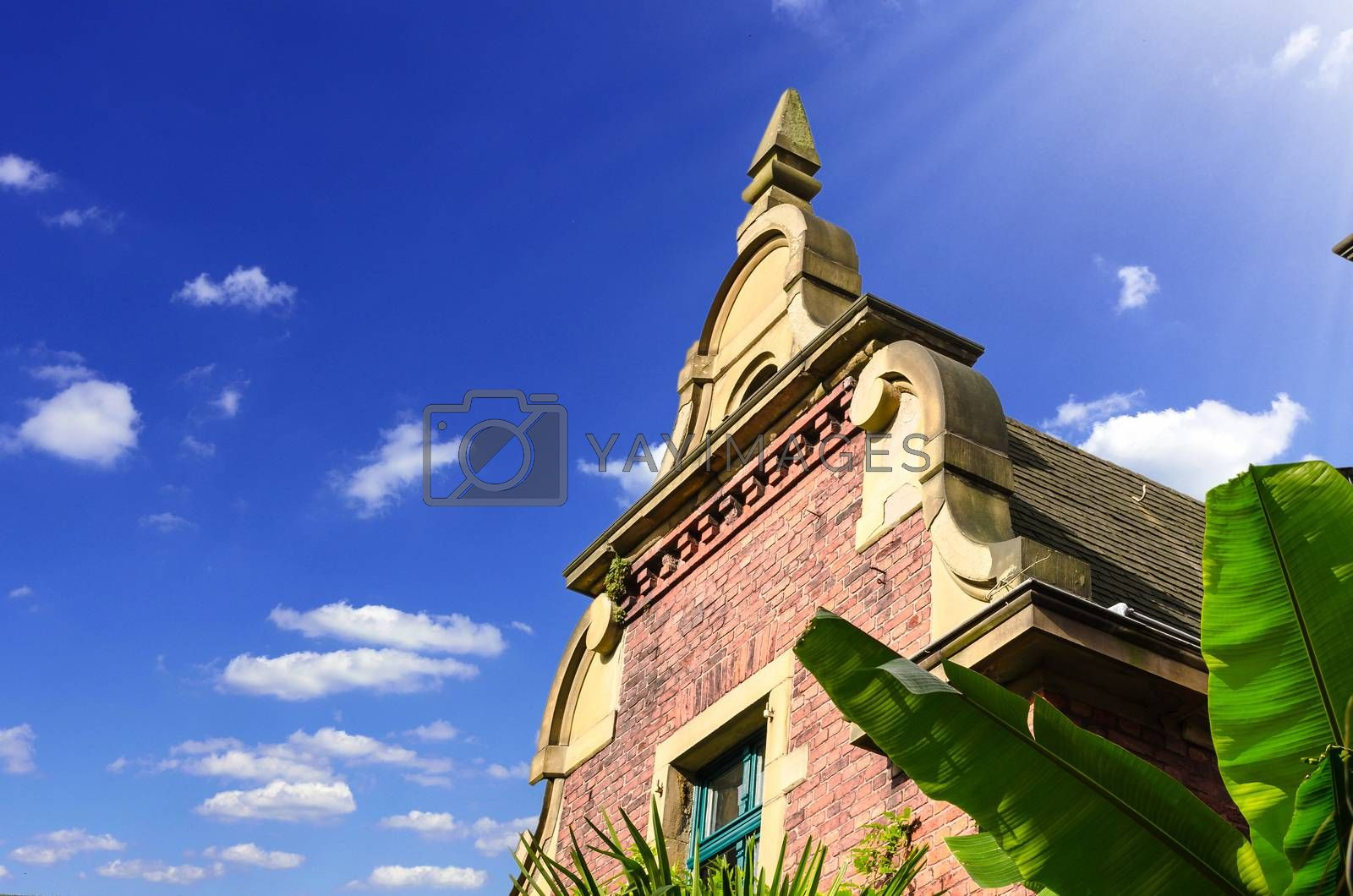 Royalty free image of Ancient house facade gable of a villa by JFsPic