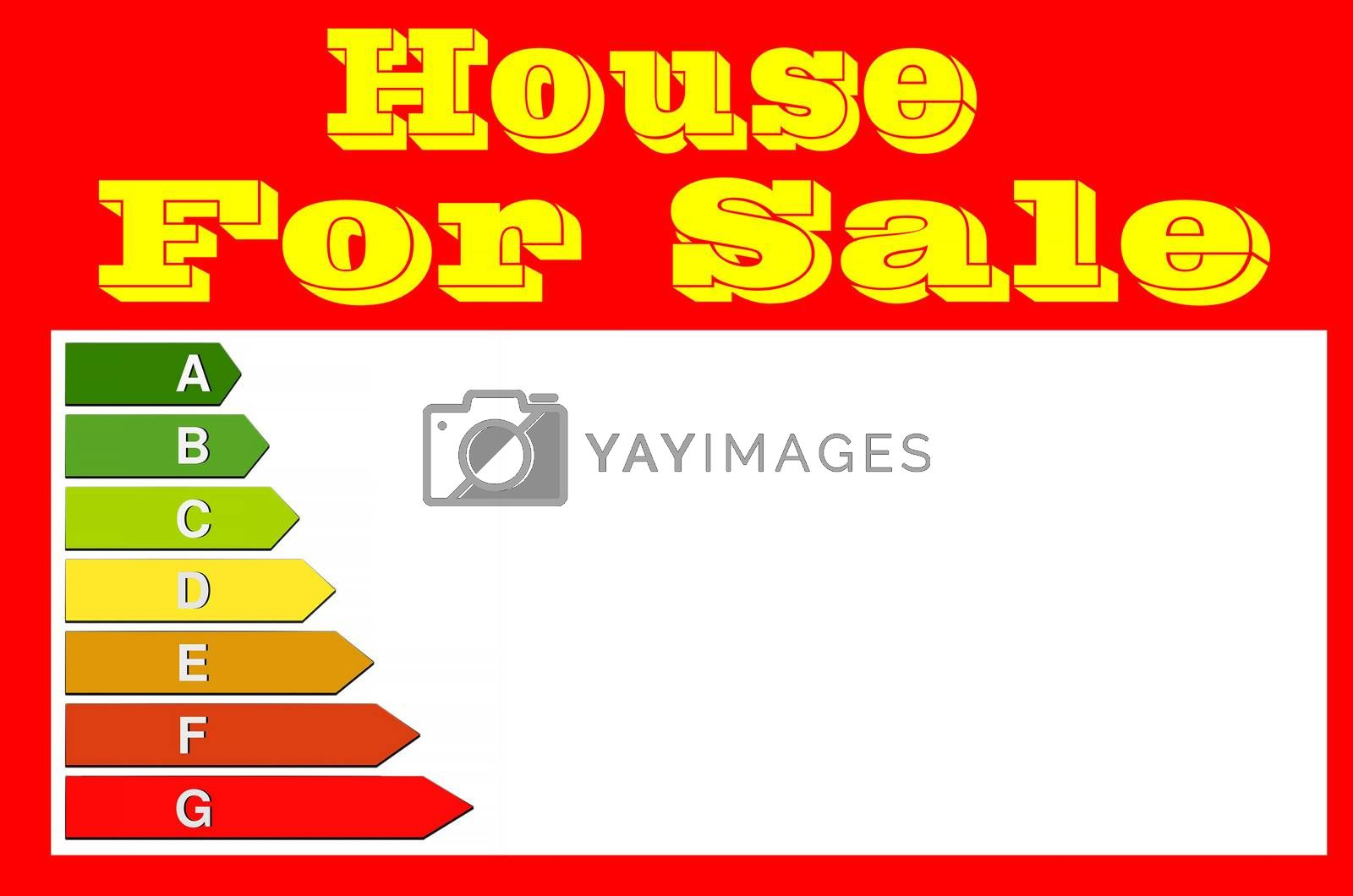 Royalty free image of Sign for real estate agents. House for sale. by JFsPic