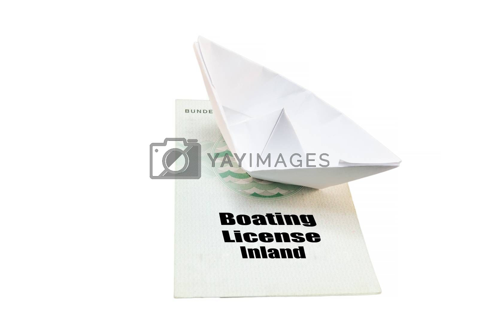 Royalty free image of Boat license Inland by JFsPic