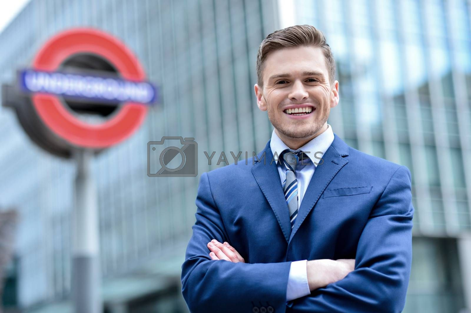 Relaxed corporate male executive by stockyimages