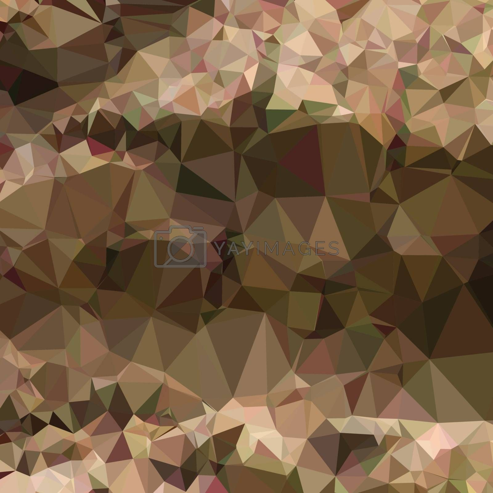 Low polygon style illustration of copper brown abstract geometric background.