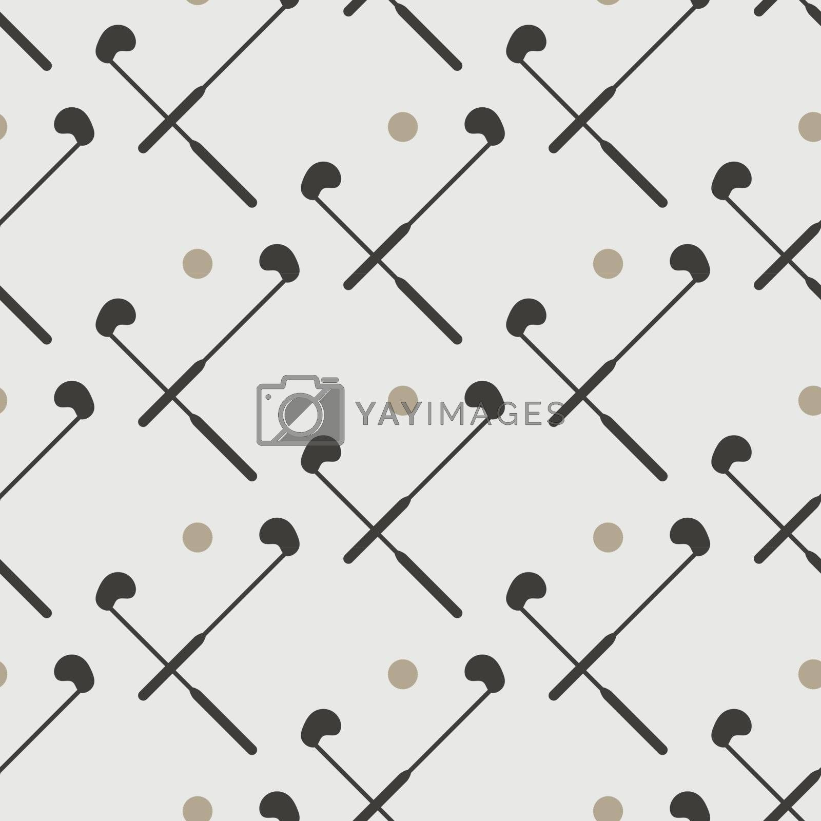 Colored golf clubs and balls seamless pattern