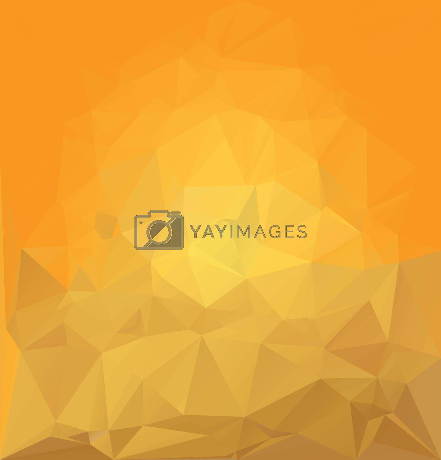 yellow random crystal background vector