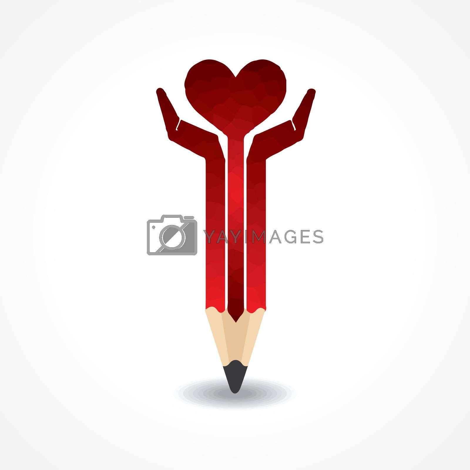 Save life concept with pencil hands stock vector