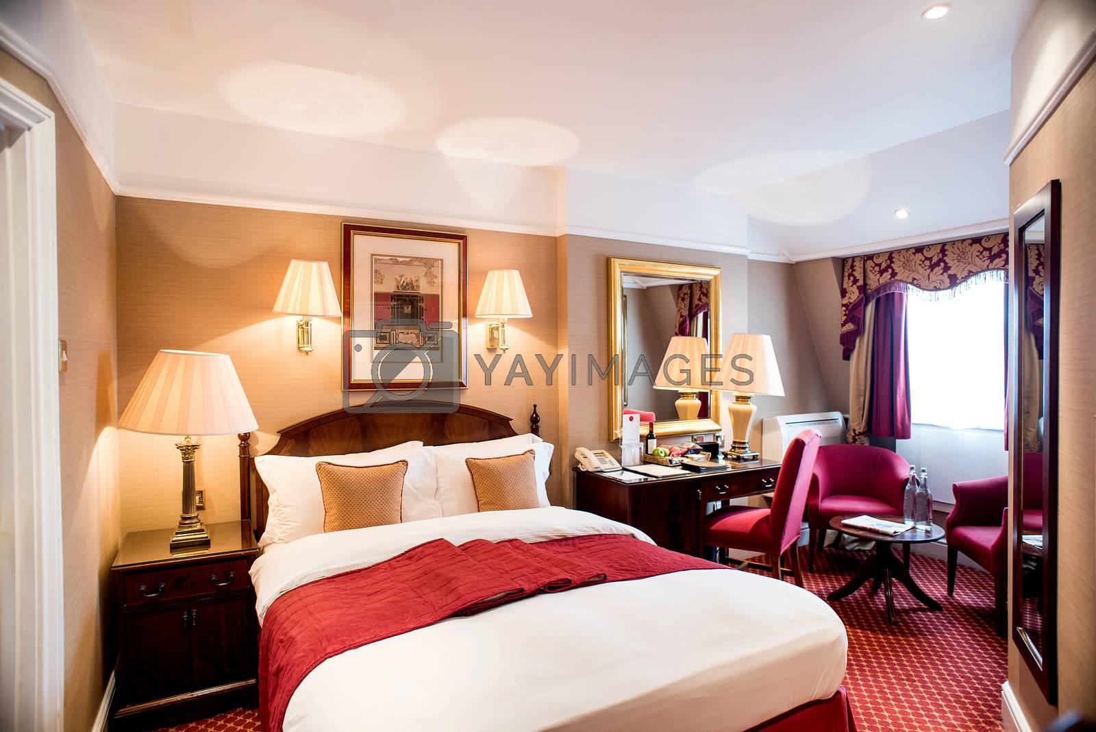 Beautiful bedroom interior in luxury home