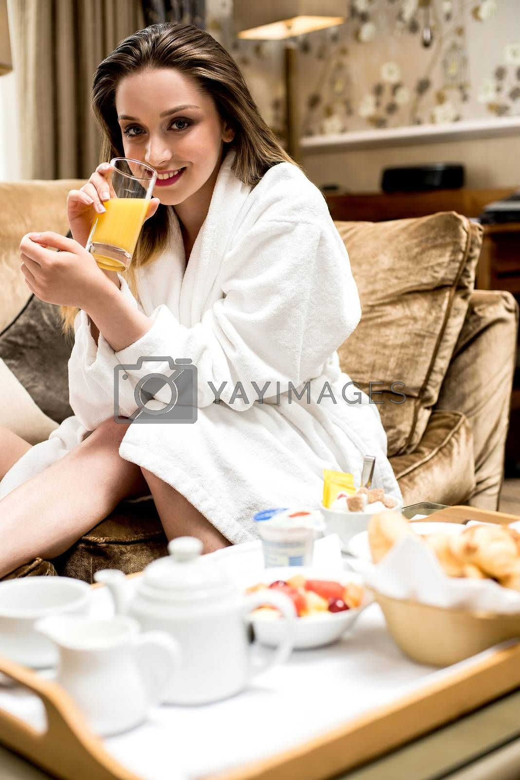 Orange juice finest healthy drink by stockyimages