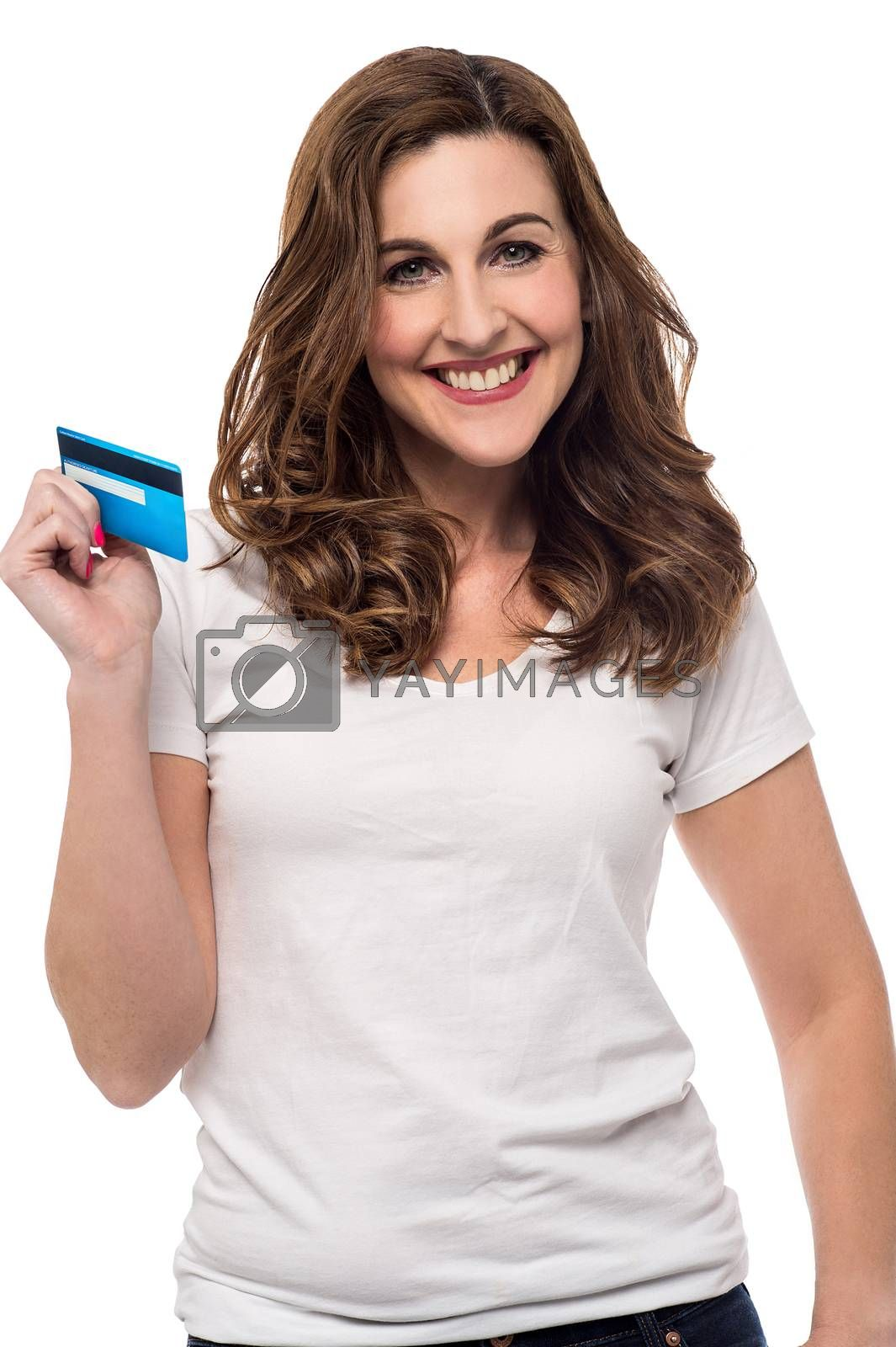 Credit card made shopping easy ! by stockyimages