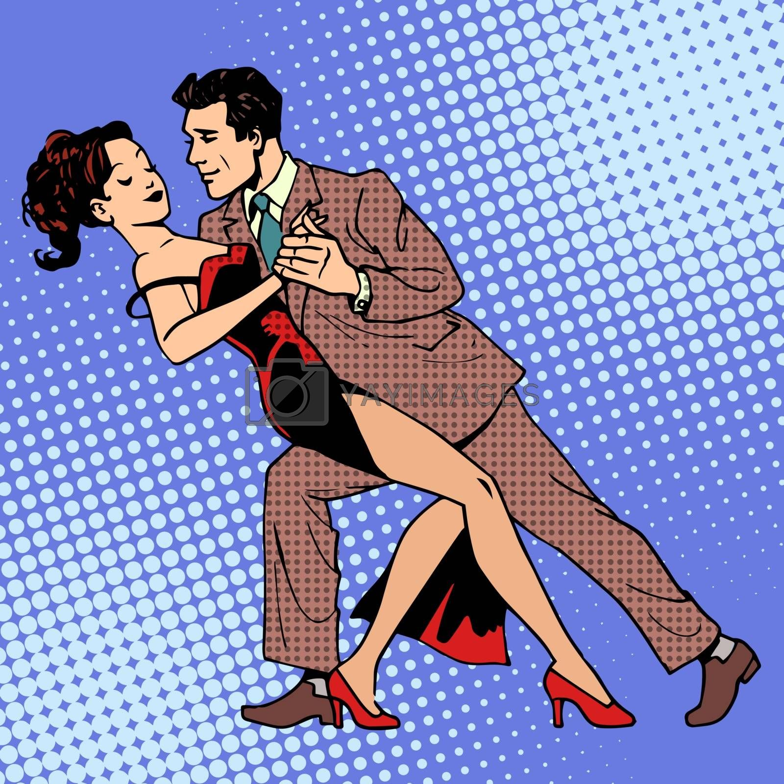 Royalty free image of Man and woman dancing a waltz or tango by studiostoks